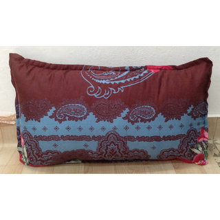 Maroon Printed Pillow Cover Set of 2 By Azaani