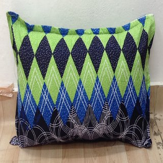 Blue Floral Printed Pillow Cover Set of 2 By Azaani