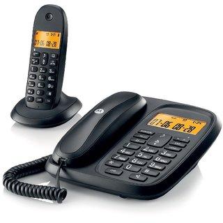 MOTOROLA CORDED CORDLESS PHONE COMBO CL101 - BLACK