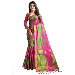 Ruchika Fashion Womens Cotton Silk Saree With Latkan and Blouse Piece Material ( NIRMALA )