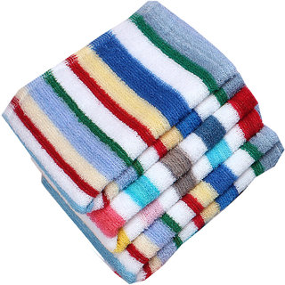 Pack of 12 New Multicolour Stripped face Towel  Hanky