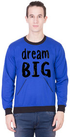 Kristof Dream Big Royal Blue Round Neck Sweatshirt