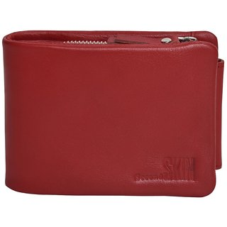 Daily Use Mens Wallet Stylish Money Bag -406-Red