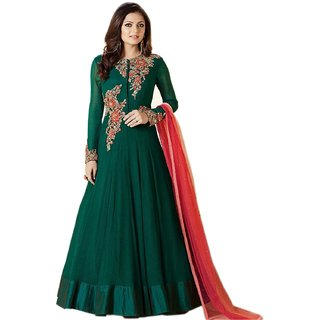 a744fd376 Buy Women s Green Georgette Party Wear Embroidered Semi-Stitched Salwar  Suit Online   ₹850 from ShopClues