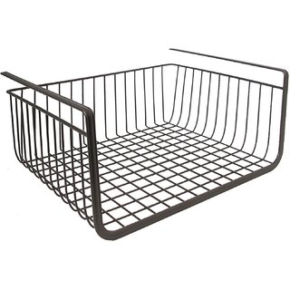 House of Quirk Iron Under Shelf Basket, Black