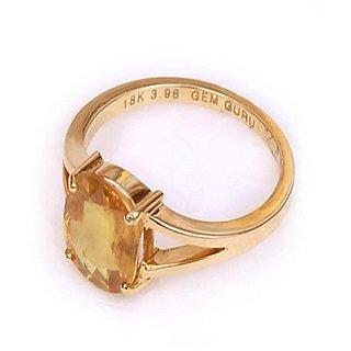 Yellow Sapphire Ring Natural Pukhraj Jaipur Gemstone