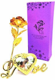 24k Gold Plated maroon Rose With Box good look