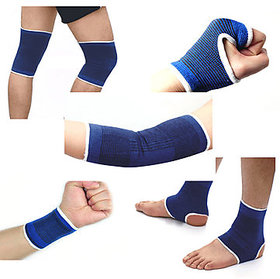 BANQLYN Combo Ankle + Knee + Elbow + Palm Support Pairs for GYM Exercise Grip