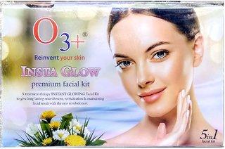 O3 + 24 Insta Glow Premium  facial kit