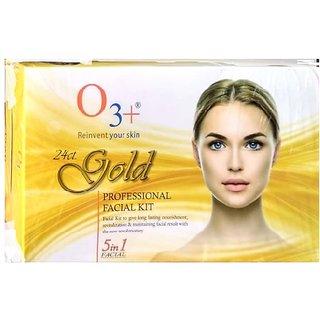 O3 + 24 cart gold professional facial kit set 1