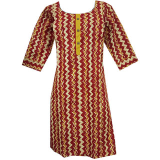 K T Collection Cotton Maternity Feeding Kurti With Vertical Zippers Size XL KTMTRN39