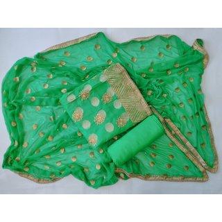 Pratyusha's Creation Hand Embroidery Chanderi Salwar Suit
