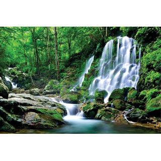 Vastu Natural Water Fall Beautiful Wallpaper Sticker. 02