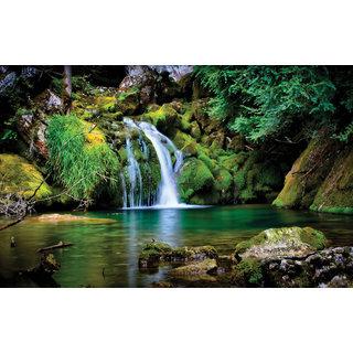 Vastu Natural Water Fall Beautiful Wallpaper Sticker. 007