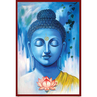 Pack Of 1 Galaxy Spiritual Theme Based Lord Buddha Beautiful Multicolor Vinyl Wallpaper Sticker