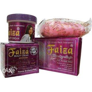 FAIZA BEAUTY CREAM WITH FAIZA WHITENING SOAP (COMBO PACK )