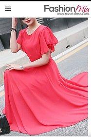 KF-0028 Westchic AZIZA PEACH Long Dress