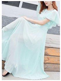 KF-0031 Westchic AZIZA CYAN Long Dress