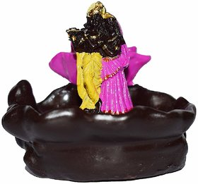 The Craftsman Radha Krishna Smoke Backflow Cone Incense Holder with 10 Smoke Backflow Scented Cone Incenses