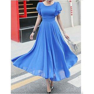 KF-0027 Westchic AZIZA ROYAL BLUE Long Dress