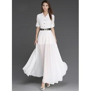 KF-0017 Westchic BOLOVIA WHITE Long Dress