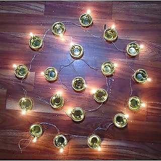 Diya deepak LED Fairy String Series lights Home diwali decoration Lightning Real brown diya