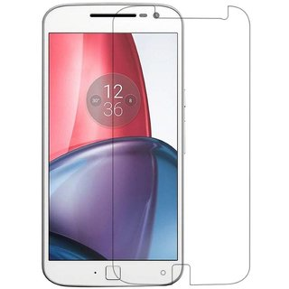 Premium Quality Gorilla Tempered Glass Screen Protector for Motorola Moto G4 Plus (Transparent) by aadee 01448