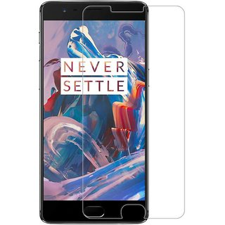 Premium Quality Gorilla Tempered Glass Screen Protector for OnePlus 3 (Transparent) by aadee 01521
