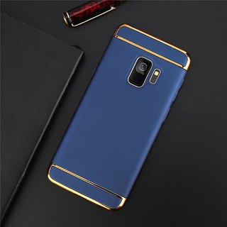 the latest 950c6 01a05 Kartik Luxury 3-in-1 Slim Fit 360 Protection Hybrid Hard Bumper Back Case  Cover Samsung Galaxy J6 2018 (Blue Golden)