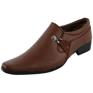 Buy Scarpi Stylish Brown Formal Shoes For Men Party Wear Office