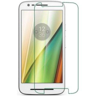 Premium Quality Gorilla Tempered Glass Screen Protector for Motorola Moto E3 Power (Transparent) by