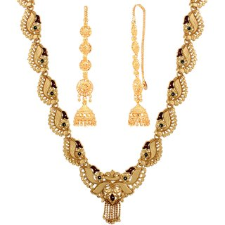 Goldnera Traditional South Indian Television Jewellery Combo For Women