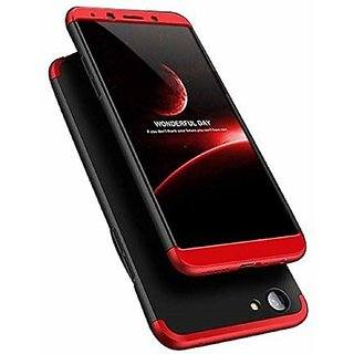 newest cc69c 8a576 3 in 1 360 Full Body Slim Fit Protection Hybrid Hard Back Cover for Oppo  Realme 1 - Red