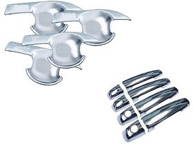 Auto Spare World Finger Guard With Door Handle Chrome Cover For Mahindra Scorpio 2009-2014 Set Of 8 Pcs.