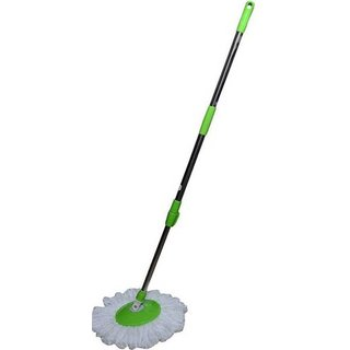 WayMore Universal Magic Mop 360 Degree Rotating Mop stick   Mop Rod With 1 Refill