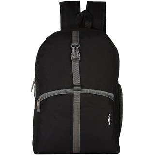 LeeRooy Nylon 22 Ltr Black Sling Bag Backpack For Men