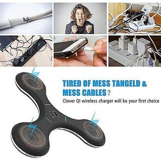 Tech Gear Hand Fidget Tri-Spinner Styled QI Inductive Wireless Charger  Transmitter