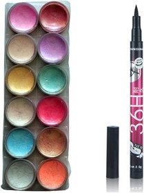 Vozwa 12 in 1 Shimmer Powder and sketch pen eyeliner