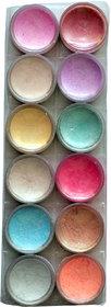 Vozwa Multi Color Shimmer Powder (12 in 1)