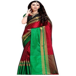 Indian Style Sarees New Arrivals Latest Women's Ethnic Wear Kanjivaram Cotton Silk Saree With Blouse Bollywood Designer