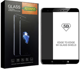 Adoniss 5D 9H Edge to Edge Premium Tempered Glass Mobile Screen Protector for Black Color Honor 8 Pro