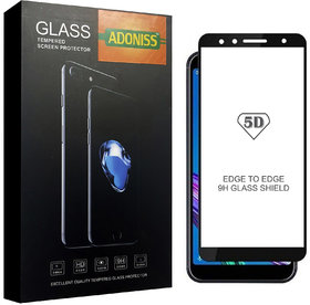 Adoniss 9H/5D Mobile Tempered Glass Protector (Pack of 1) Black Color for Zenphone Max Pro M1