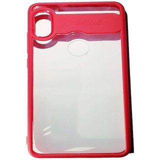 RGW Auto Focus Transparent Cover for Redmi Note 5 Pro - Red Shockproof, Anti Knock, Anti-Skid, Dustproof, Drop-Resistant