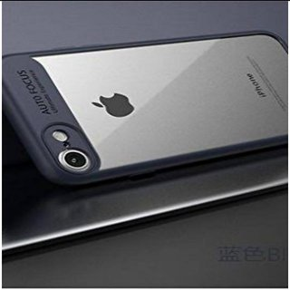 RGW Transparent Auto Focus Back Case Cover for  iPhone 7 - Blue Shockproof, Anti Knock, Anti-Skid, Dustproof, Drop-Resistant