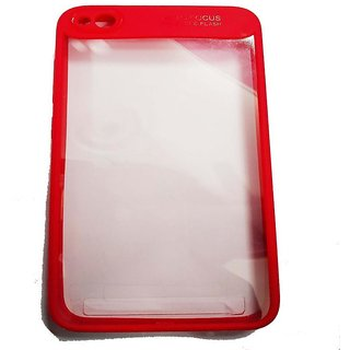 RGW Transparent Back Case Cover for Redmi 5 A - Red |Shockproof, Anti Knock, Anti-Skid, Dustproof, Drop-Resistant