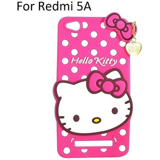 RGW Hello Kitty Back Case Cover for Redmi 5 A - Shockproof, Anti Knock, Anti-Skid, Dustproof, Drop-Resistant