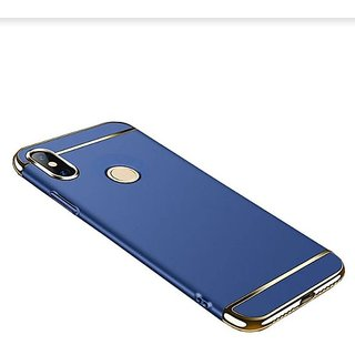 RGW Back Case Cover for Redmi Note 5 Pro (Gold Blue)