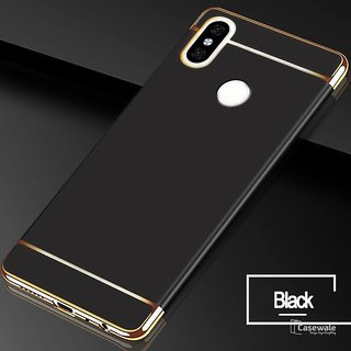 RGW Back Case Cover for Redmi Note 5 Pro (Gold Black)
