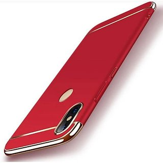 RGW Back Case Cover for Redmi Note 5 Pro (Gold Red)