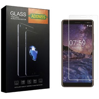 Adoniss 0.3mm Full Flexible Mobile Tempered Glass Protector (Pack of 1) for Nokia 7 Plus